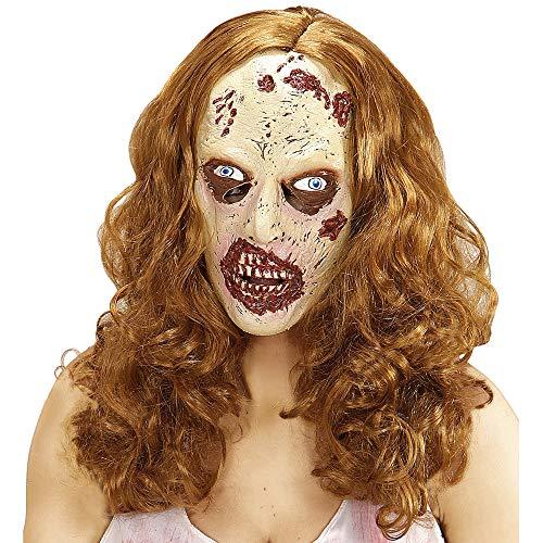 Widmann 01013 - Maske Zombie mit Perücke