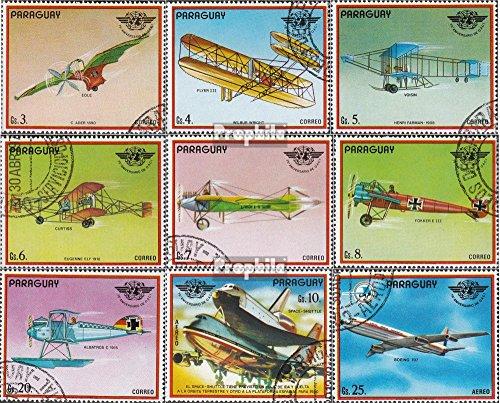 Prophila Collection Paraguay 3153-3161 (kompl.Ausg.) 1979 Geschichte der Luftfahrt (Briefmarken für Sammler) Luftfahrt