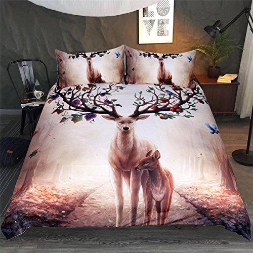 Bettzeug 3D Tiere Druckeffekt Doppel-Bettbezug enthalten 2 Kissenbezüge Weichheit Polyester Bettwäsche , König Hochzeit Bettwäsche-set König