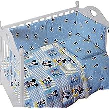 Caleffi.- Set de chichonera y colcha para cuna Disney Baby Mickey Forever (100% algodón)