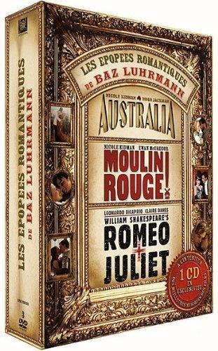 Coffret Baz Luhrmann Epopées romantiques : Australia - Moulin rouge - Romeo + Juliette