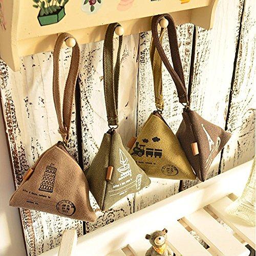 Verkauf Leinwand Wonderful 4Kleiner Münzen Taschen Handtaschen Halter Fall Kopfhörer Kleingeld Tasche - Halter 4-münze
