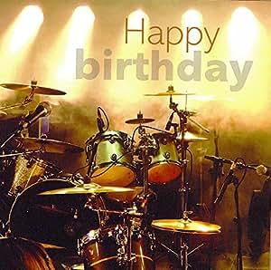 verjaardag man drummer