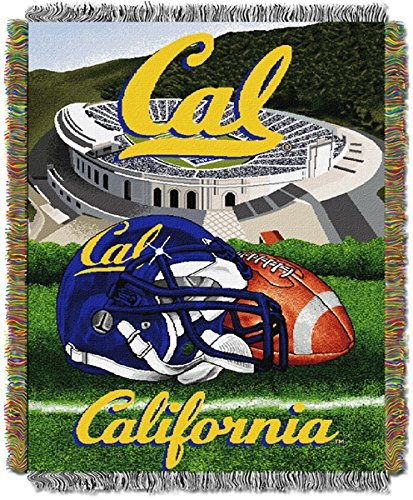 The Northwest Company Northwest NCAA UC Berkeley HFA Tapisserie Wirft, Team Color, 48