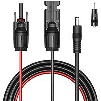 GIARIDE MC4 Câble à DC 5,5x2,1mm 1.5M 16AWG Extension Rallonge Connecteurs Pour Panneaux Solaires
