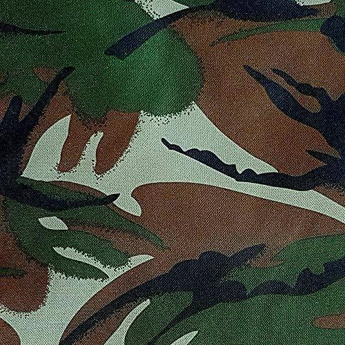 NOVELY® Oxford 210D Polyester Stoff Camouflage dunkel für Outdoor wasserabweisend (Möbelstoff Camouflage)