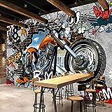 Moto Street Art Graffiti 3D Peinture Murale Personnalisation Personnalisée Fond D'écran Café Ktv Bar Salle Des Enfants Revêtements Muraux Fresques