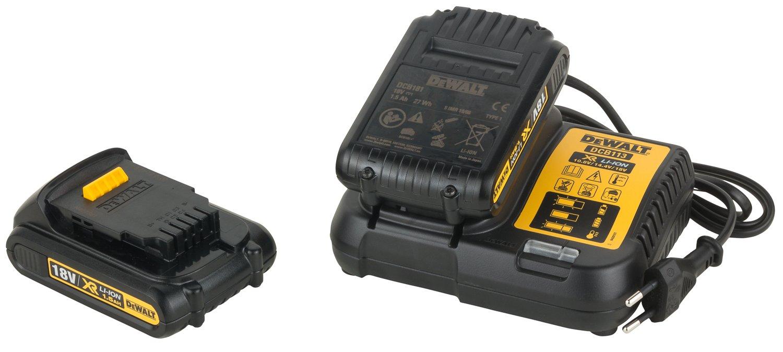 DEWALT DCD778S2T-QW – Taladro Percutor sin escobillas XR 18V, 13mm, 65Nm, incluye 2 baterías Li-Ion (1.5Ah) y maletín