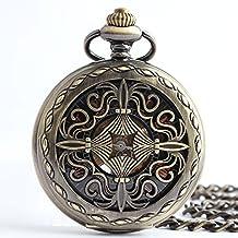 Y&M Classic - Reloj de bolsillo mecánico, diseño de nudo chino, versión coreana de la tendencia de los relojes