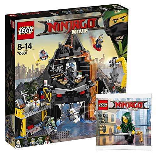 Lego Ninjago Movie 70631–Escondite garmadons VULKAN + Lego Ninjago 30609Lloyd Mini figura, diseño juguete