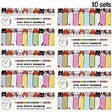 10 Sets Niedliche Karton Sticky Tabs Katze Haftnotizen Index Niedliche Tier Lesezeichen für Kinder Schule Bürobedarf, 10 Stile