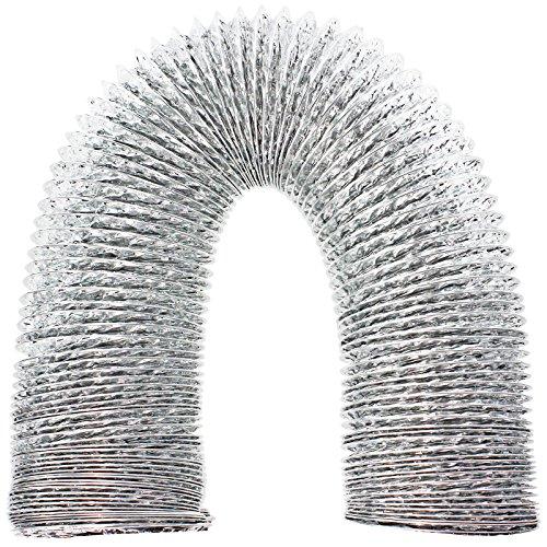 spares2go Universal 3M Aluminium Flexible Trockner Vent Schlauch Auspuff (10,2cm/100mm) Trockner Vent-auspuff
