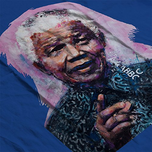 Sidney Maurer Nelson Mandela Official Womens Sweatshirt Royal Blue