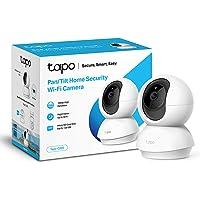 TP-Link Tapo Pan/Tilt Smart Security Camera, Indoor CCTV, 360° Rotational View, Works with Alexa & Google Home, No Hub…