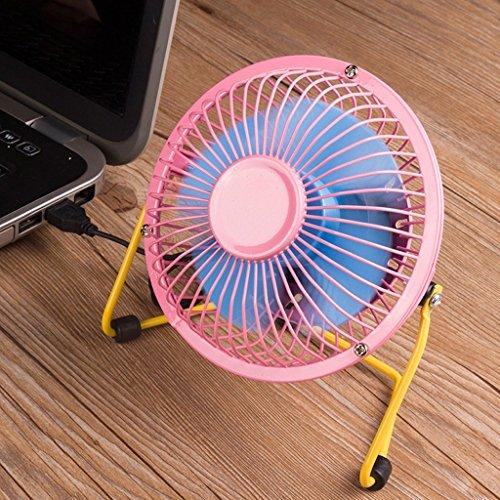 Preisvergleich Produktbild LANXINYU Ventilator 4-Zoll-Computer-Fan-Studenten-Hostel-Desktop-Mini-Ventilator Sub Silent Fan Home Desktop-Ventilator (Farbe : Rosa blau)