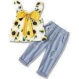 Conjunto de Ropa Bebé Niña Recién Nacido Niña Peleles Monos de Manga Corta + Pantalones Cortos+ Venda de Pelo,6-24 Meses Bebe