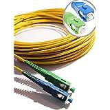 Elfcam® - Câble à Fibre Optique (jarretière Optique) Compatible SC/APC à SC/UPC Compatible Free Box (20M)