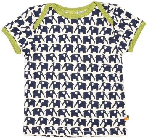 Loud + Proud Unisex - Baby T-Shirts Tierdruck 204, Gr. 74/80, Blau (Marine)