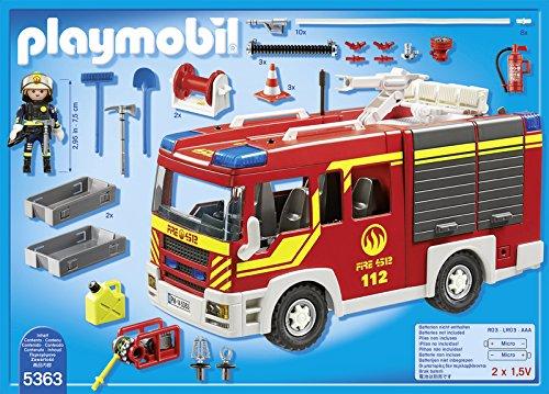 Playmobil-Bomberos-Camin-con-luces-y-sonido-playset-5363