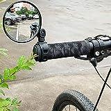 kengb 1PC Bike Mirrors, Bicycle Cycling Rear View Mirrors 360 Degree Rotate Rotatable Handlebar Mounted Plastic Convex Mirror