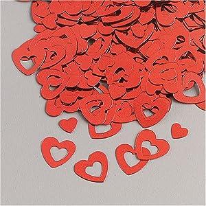 Gütermann / KnorrPrandell 6377250 - Corazón de oropel de Aluminio es de Color Rojo, 20 g / Bolsa Importado de Alemania