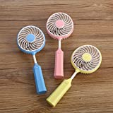 sunnymi Hochwertiger Badmintonschläger Portable Rechargeable Fan Air/Kühler Mini Betriebene Hand USB USB 18650 Akku/Ruhiges langes Leben (Gelb)