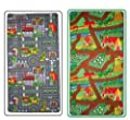 Childrens reversible Roadmap Farmlife Playmat Rug Bedroom Playroom Cars Animal Rugs produced by Childrens Rugs - quick delivery from UK.