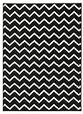 Hochwertiger Teppich LUXUS Modern Verschiedene Muster und Größen Schwarz Weiß (120x170)