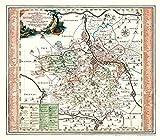 Historische Karte: Ämter Bitterfeld, Delitzsch und Zoerbig, 1758 (Plano) - Peter Schenk