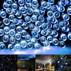 Guirlandes lumineuses led eonfine guirlande solaire 200 - Guirlande lumineuse exterieur bleu ...