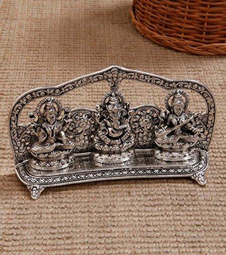 Two Moustaches Laxmi Ganesha Saraswati Idol
