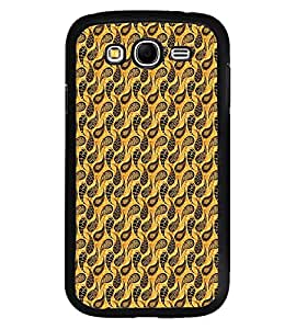 Fuson Premium Golden Pattern Metal Printed with Hard Plastic Back Case Cover for Samsung Galaxy Grand Neo Plus GTi9060i