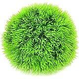 Sourcingmap Plástico Forma Redonda Acuario Artificial Submarino Planta Hierba bola, verde