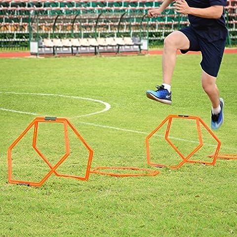 Geschwindigkeitsleiter, Sportneer 6 Stück Sechseckig Geschwindigkeit Agility Training Rings Tennis