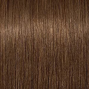 Clip in Fringe Human Hair Bangs One Piece 100% Real Remy Hair Extensions Hairpiece with Side Temple, 6 Light Brown