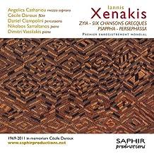 Xenakis : Zyia - Six chansons grecques - Psappha - Persephassa