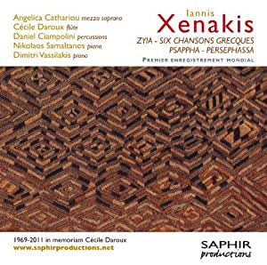 Xenakis : Zyia - Six chansons grecques - Psappha - Persephassa