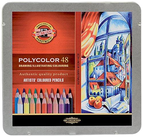 KOH-I-NOOR Polycolor Künstler-Farbstifte (48 Stück)