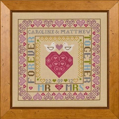 Historical Sampler Co. Bird and Heart Wedding Sampler Cross Stitch