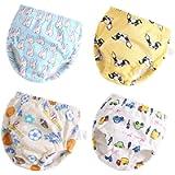 Toddler Potty Training Pants 4 Pack,Cotton Training Underwear Size 2T,3T,4T,Waterproof Underwear for Kids - blue - 2…
