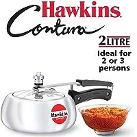 Hawkins Contura Pressure Cooker, 2 Litres, Silver