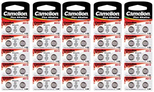 Camelion plus - Juego de pilas alcalinas de botón (ag13/lr44/LR1154/357)