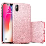 ESR Coque pour iPhone X, Coque Silicone Paillette Strass Brillante Glitter de Luxe,...