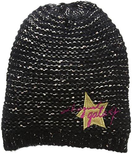 Desigual Mädchen Gorro_PEQUI Mütze, Schwarz (Negro 2000), M (Herstellergröße: S/M)