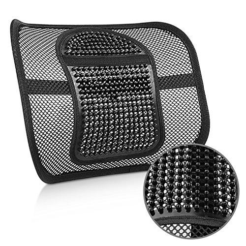 Magicfun schienale ergonomico cuscino pad supporto lombare con fascette regolabili per sedie sedile dell'auto e poltrona da ufficio e casa, riduce il dolore della sciatica e del coccige
