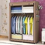 Best Home Double Rod Portable Closet Organizers - NB Portable clothes closet non-woven fabric wardrobe double Review