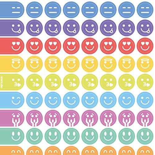 icker 288 St. Organizer-Aufkleber 9mm, weekview Emojis ()