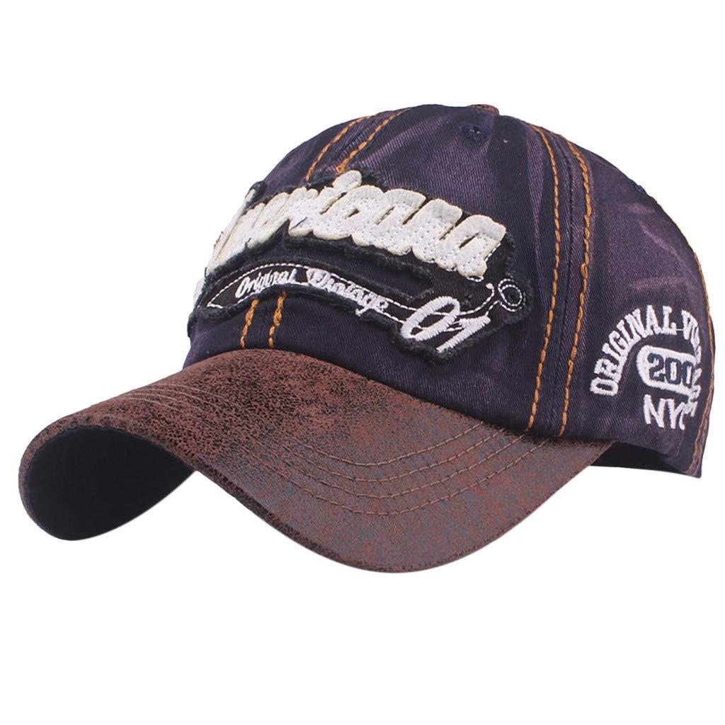 Topgrowth Cappello da Cowboy Cappello con Visiera Uomo Unisex Baseball Cappelli  Sportivi Ricamo Classico Cappello Visiera b33859020fb5