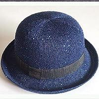 WYM Sombrero Lady Summer Fashion Beach Sombrero Sun Protección Solar Sombrero Para El Sol Topper Sombrero Al Aire Libre,Blue