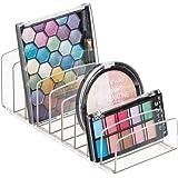 mDesign rangement pour cosmétiques en plastique – rangement maquillage à 9 compartiments – boîte de rangement pour la table à